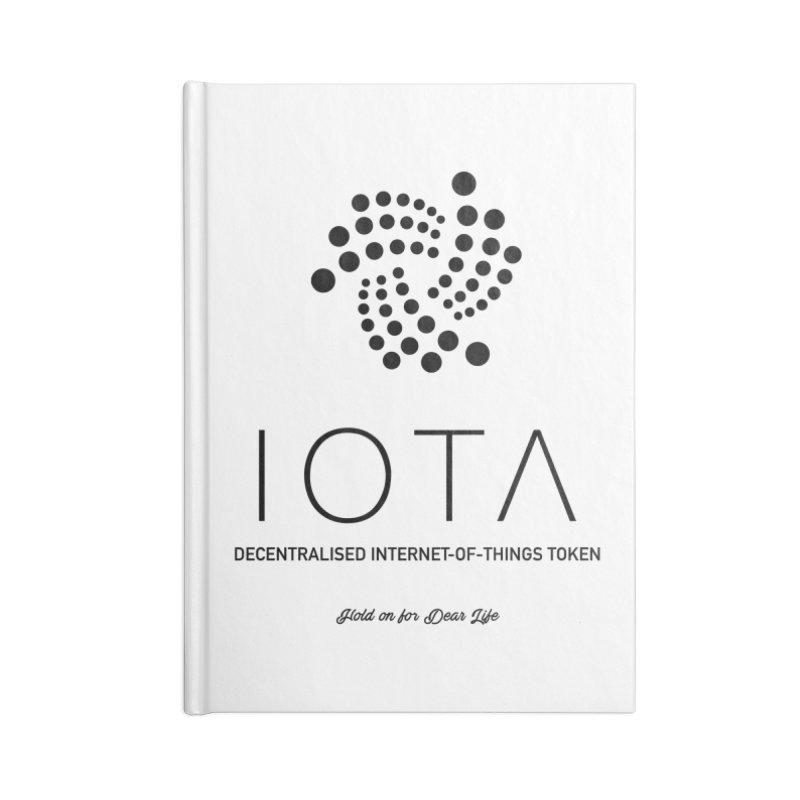 IOTA Accessories Blank Journal Notebook by HODL's Artist Shop