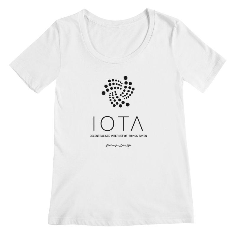 IOTA Women's Regular Scoop Neck by HODL's Artist Shop