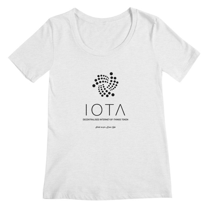 IOTA Women's Scoop Neck by HODL's Artist Shop