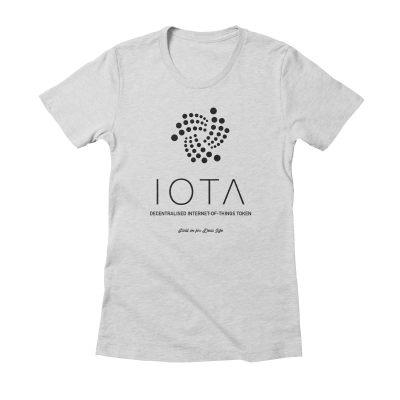 IOTA Women's Fitted T-Shirt by HODL's Artist Shop