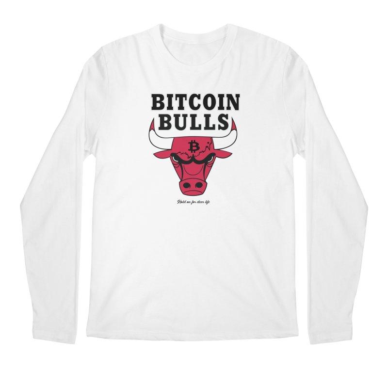 Bitcoin Bulls Men's Regular Longsleeve T-Shirt by HODL's Artist Shop