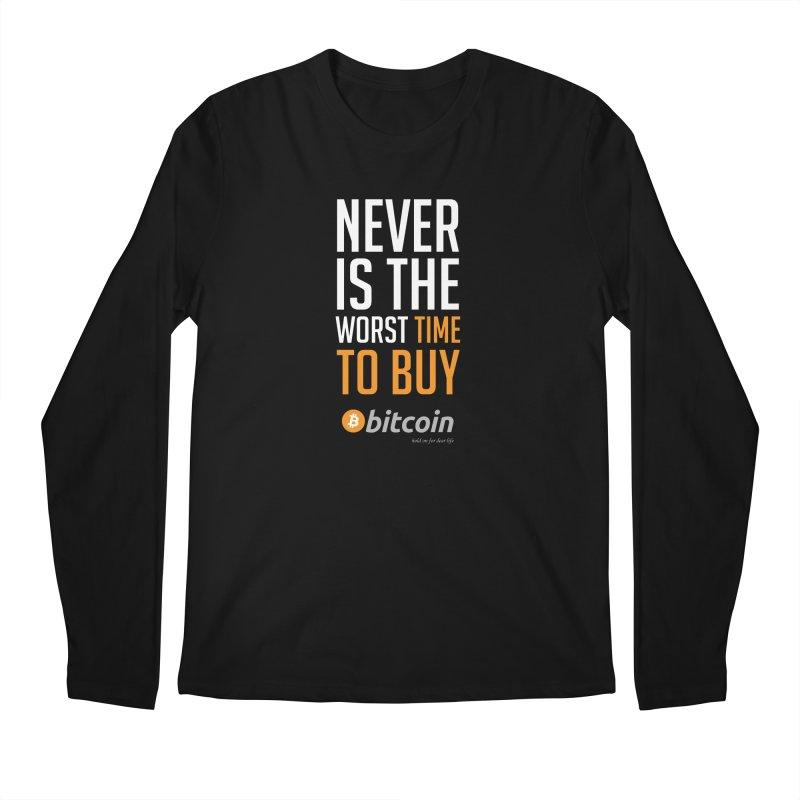 time to buy bitcoin Men's Regular Longsleeve T-Shirt by HODL's Artist Shop