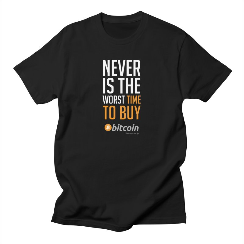 time to buy bitcoin Men's Regular T-Shirt by HODL's Artist Shop