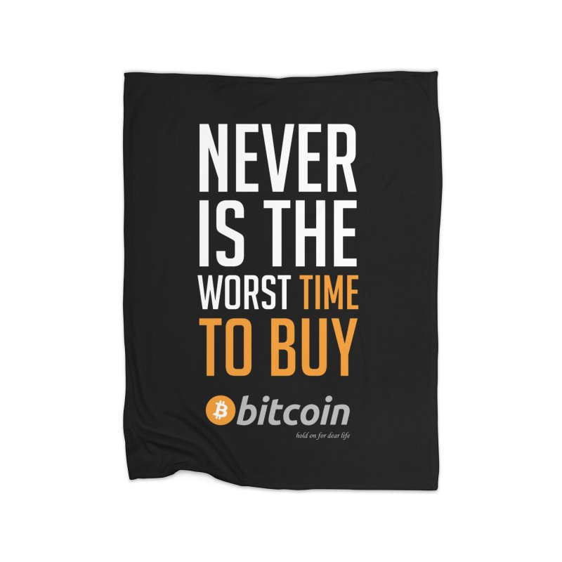 time to buy bitcoin Home Fleece Blanket Blanket by HODL's Artist Shop