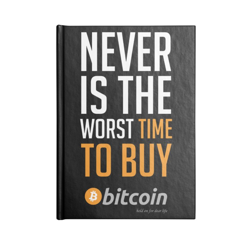 time to buy bitcoin Accessories Blank Journal Notebook by HODL's Artist Shop