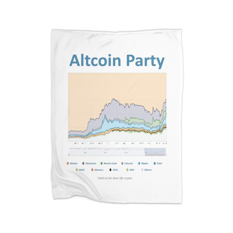 Altcoin Party Home Fleece Blanket Blanket by HODL's Artist Shop