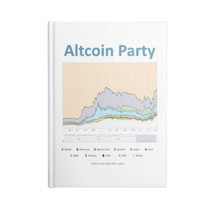 Altcoin Party Accessories Blank Journal Notebook by HODL's Artist Shop