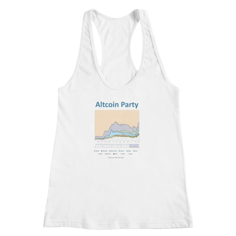 Altcoin Party Women's Racerback Tank by HODL's Artist Shop