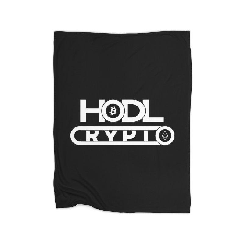 HODL Bitcoin and Ethereum Home Fleece Blanket Blanket by HODL's Artist Shop