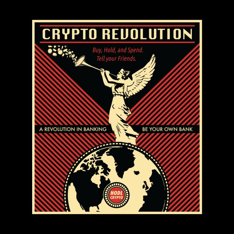 Crypto Revolution Home Shower Curtain by HODL's Artist Shop