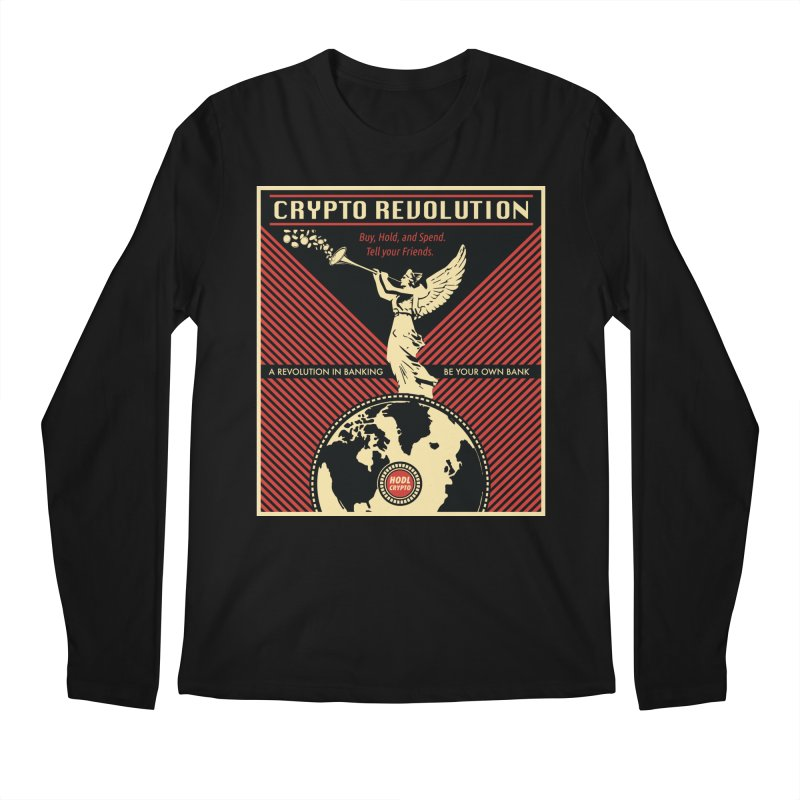 Crypto Revolution Men's Longsleeve T-Shirt by HODL's Artist Shop