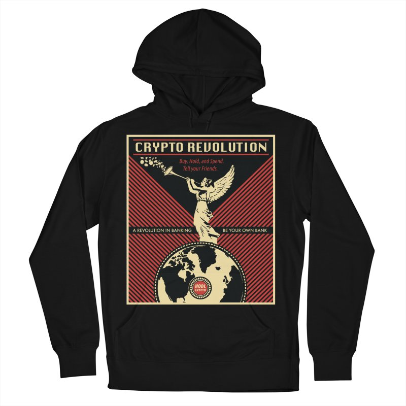Crypto Revolution Men's French Terry Pullover Hoody by HODL's Artist Shop