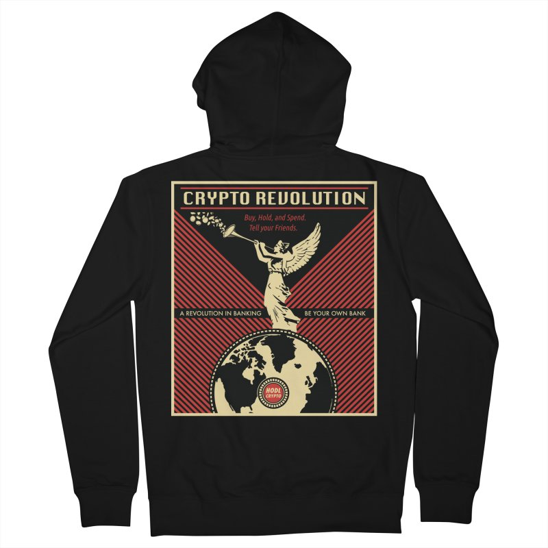 Crypto Revolution Men's French Terry Zip-Up Hoody by HODL's Artist Shop