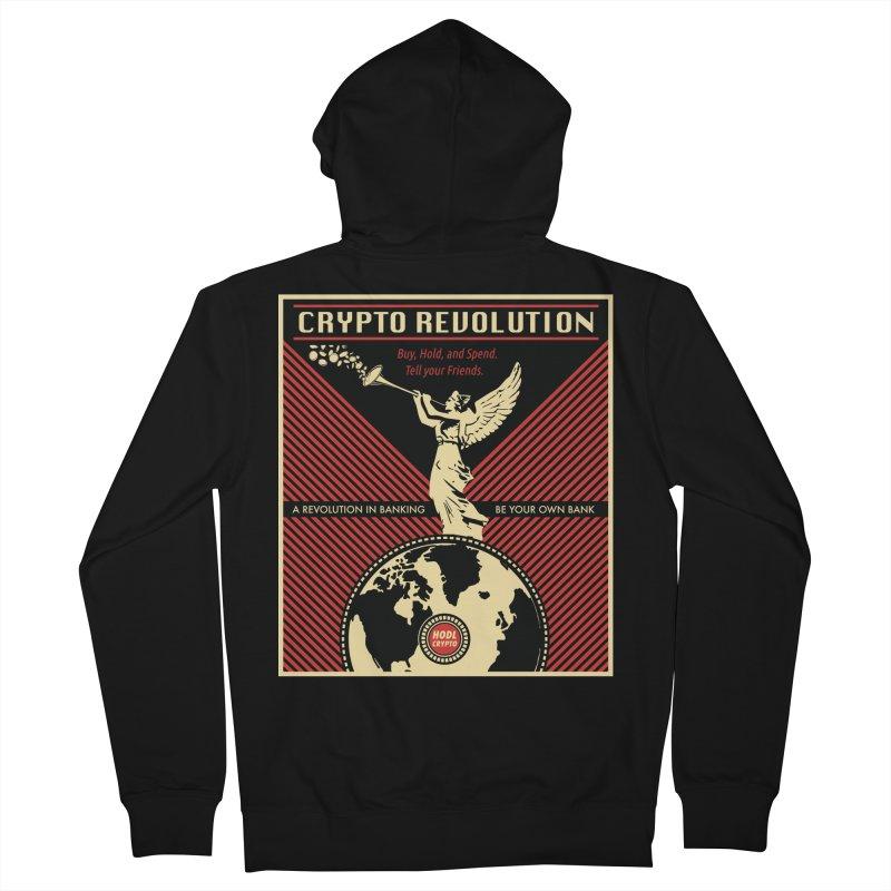 Crypto Revolution Men's Zip-Up Hoody by HODL's Artist Shop