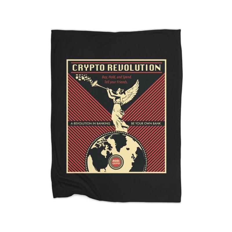 Crypto Revolution Home Fleece Blanket Blanket by HODL's Artist Shop