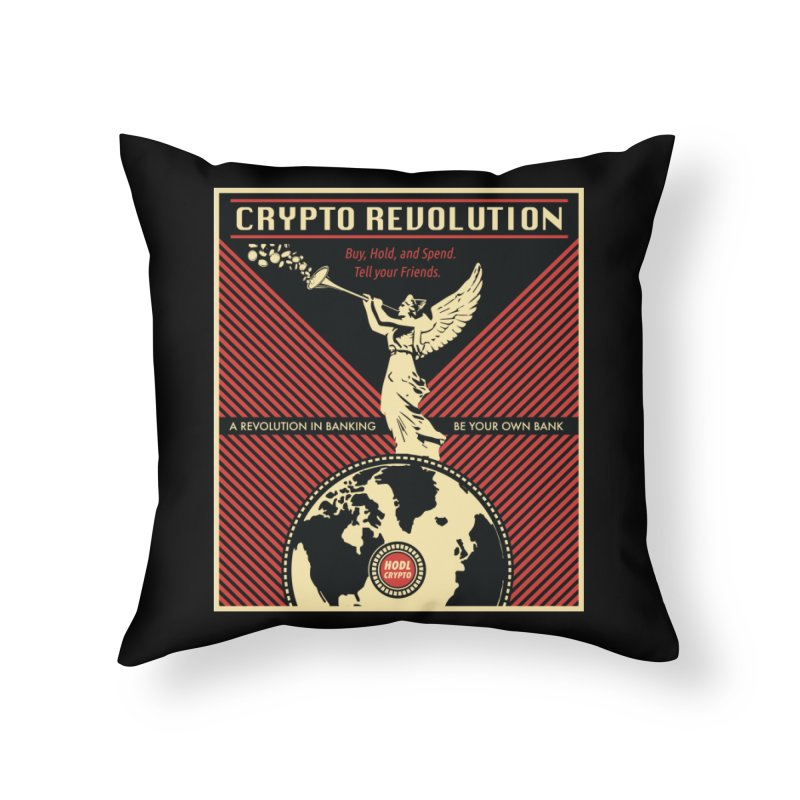 Crypto Revolution Home Throw Pillow by HODL's Artist Shop