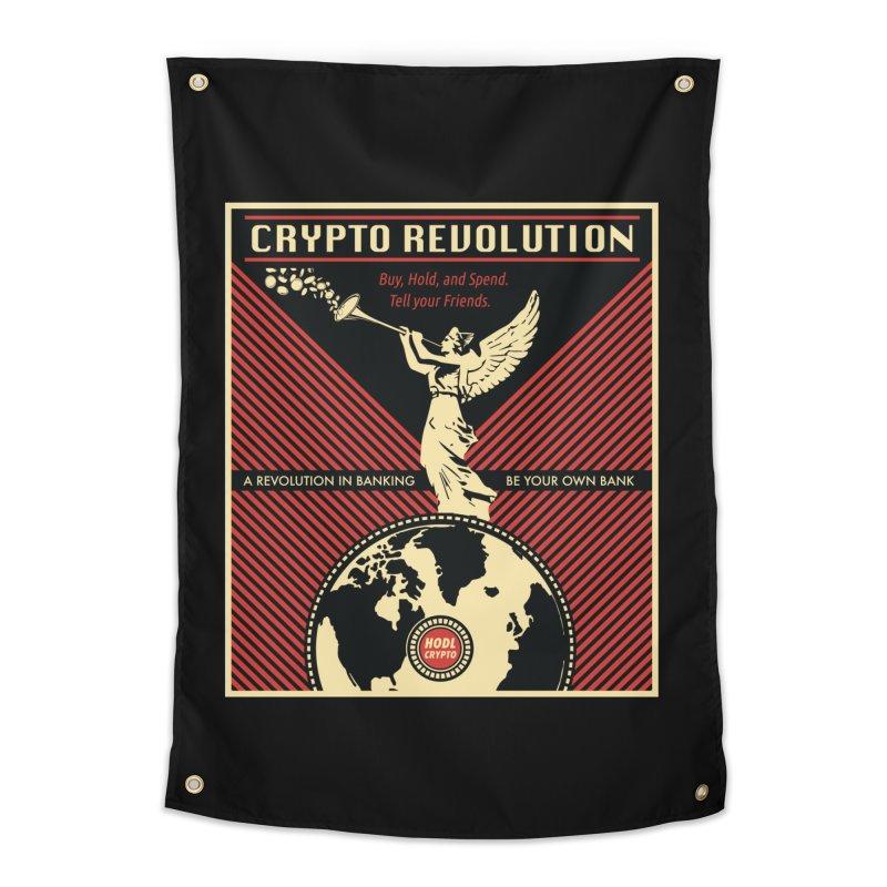 Crypto Revolution Home Tapestry by HODL's Artist Shop