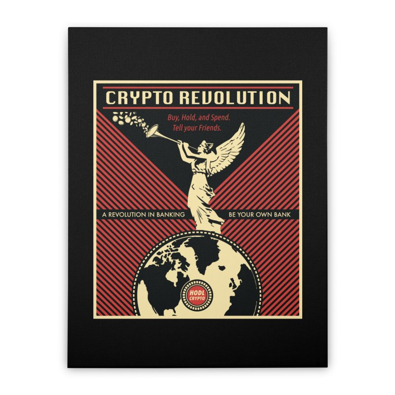 Crypto Revolution Home Stretched Canvas by HODL's Artist Shop