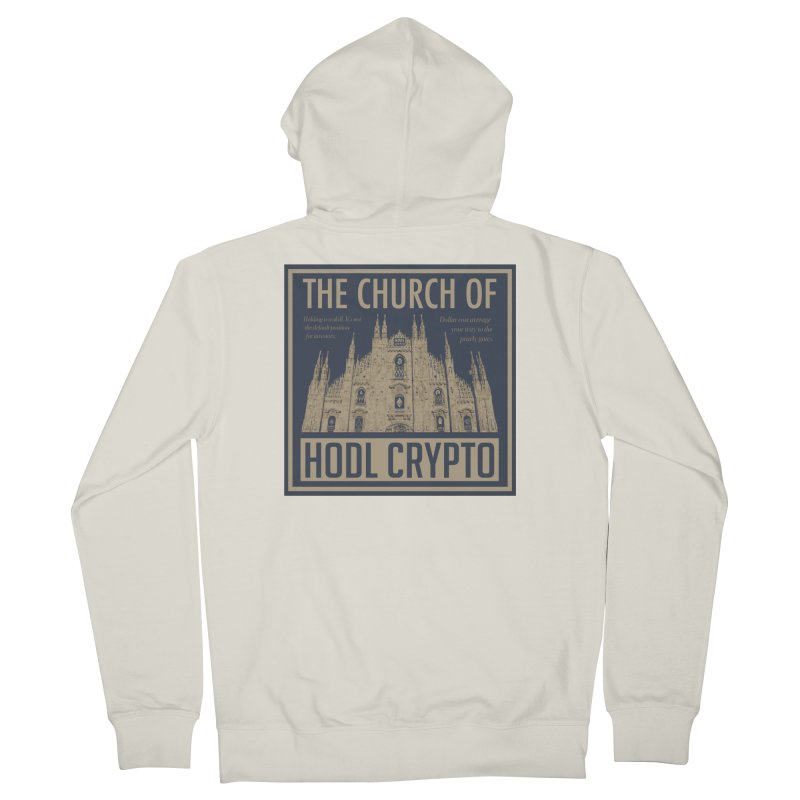 Church of HODL CRYPTO Men's Zip-Up Hoody by HODL's Artist Shop