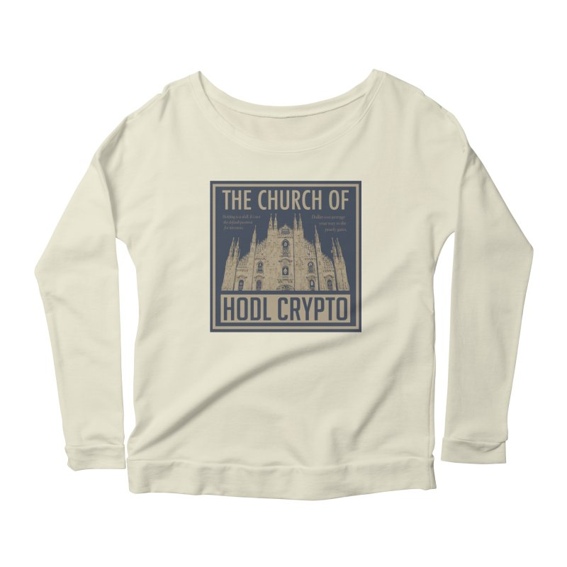 Church of HODL CRYPTO Women's Longsleeve T-Shirt by HODL's Artist Shop