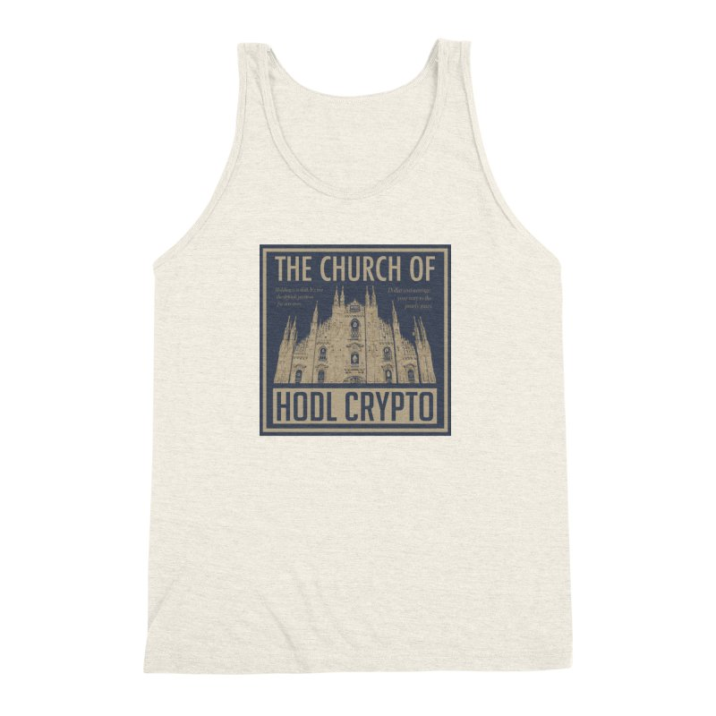 Church of HODL CRYPTO Men's Tank by HODL's Artist Shop