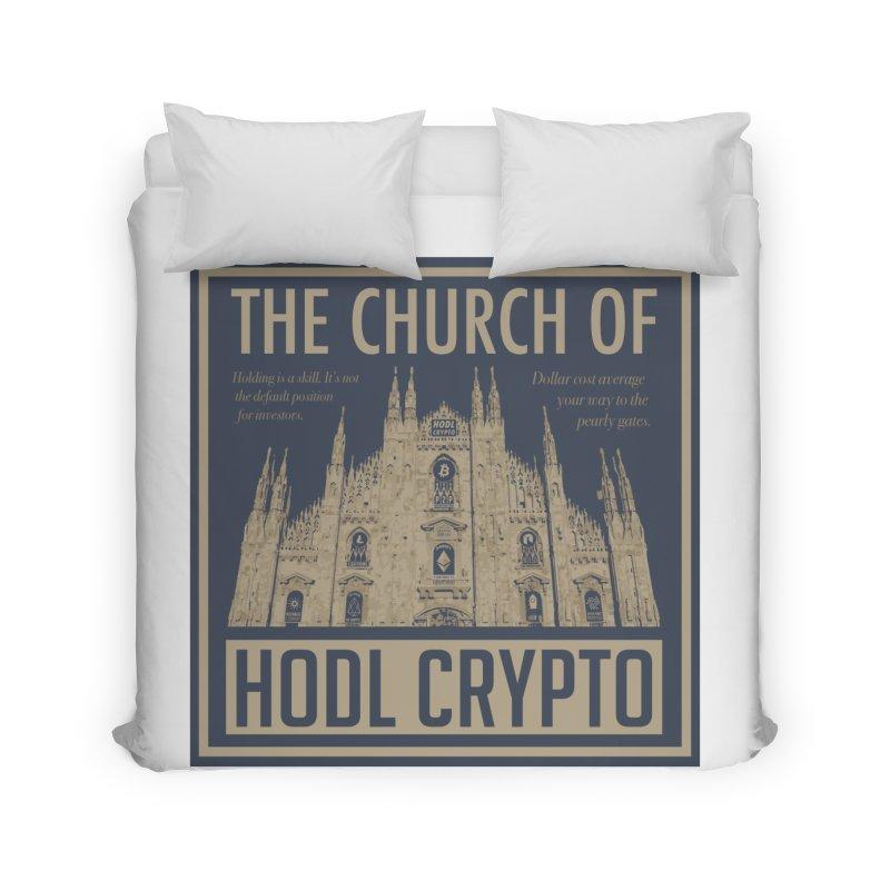 Church of HODL CRYPTO Home Duvet by HODL's Artist Shop