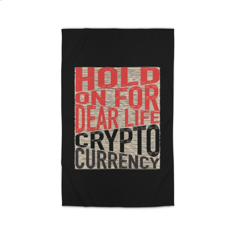 hold on for dear life crypto currency Home Rug by HODL's Artist Shop