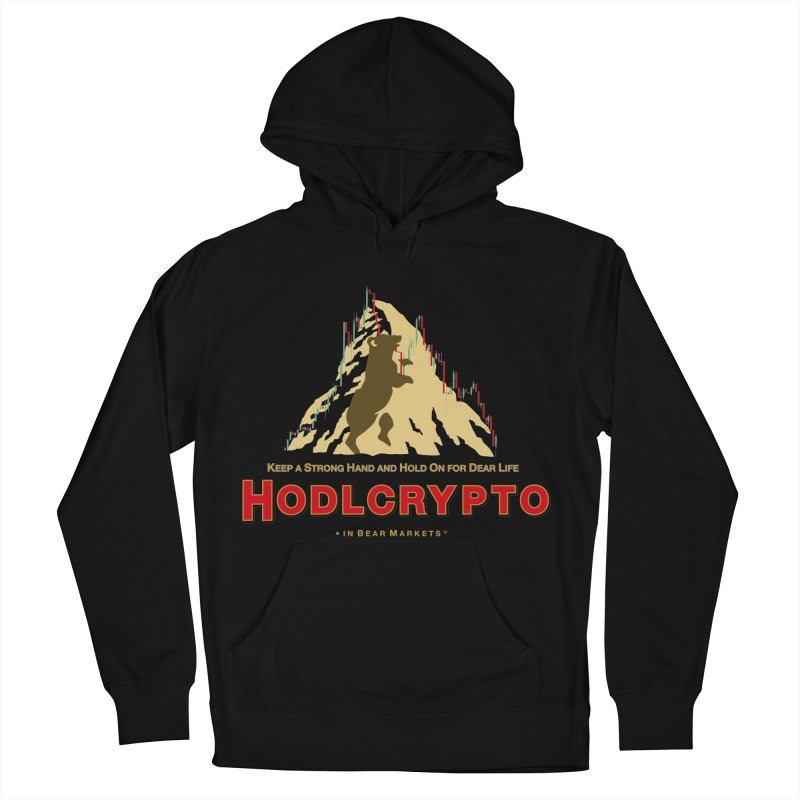HODL in Bear Markets Men's French Terry Pullover Hoody by HODL's Artist Shop