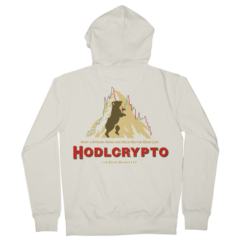 HODL in Bear Markets Women's French Terry Zip-Up Hoody by HODL's Artist Shop