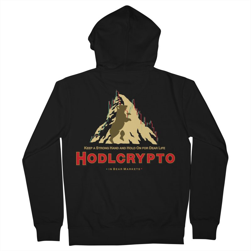 HODL in Bear Markets Men's French Terry Zip-Up Hoody by HODL's Artist Shop