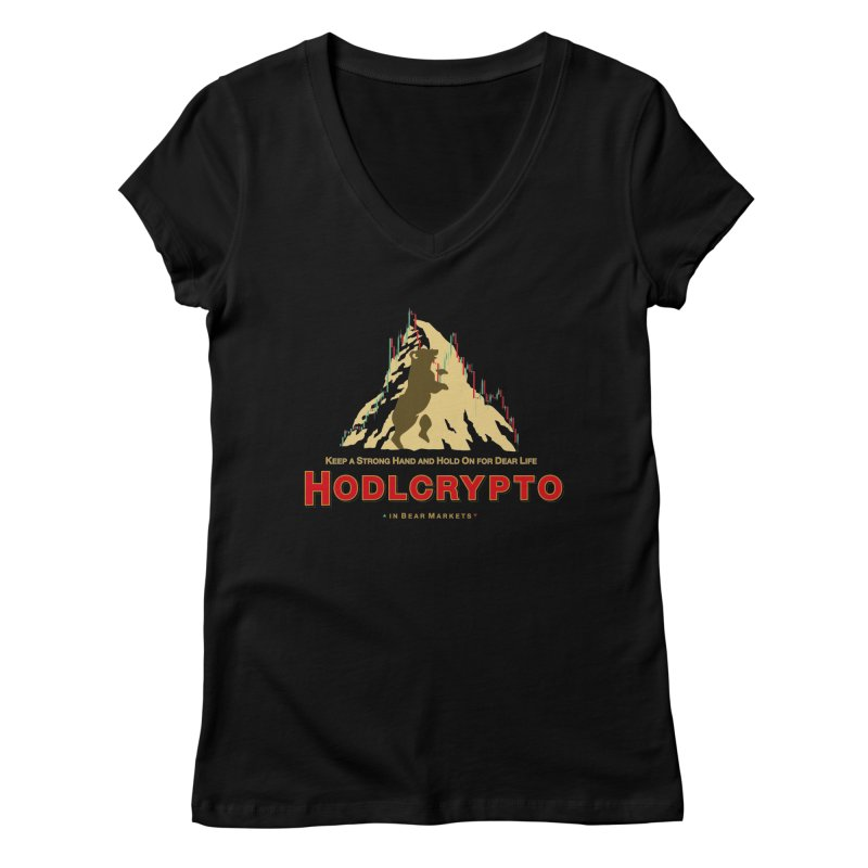 HODL in Bear Markets Women's V-Neck by HODL's Artist Shop
