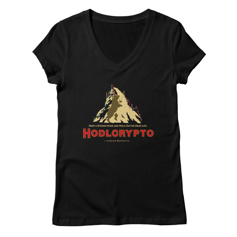 HODL in Bear Markets Women's Regular V-Neck by HODL's Artist Shop