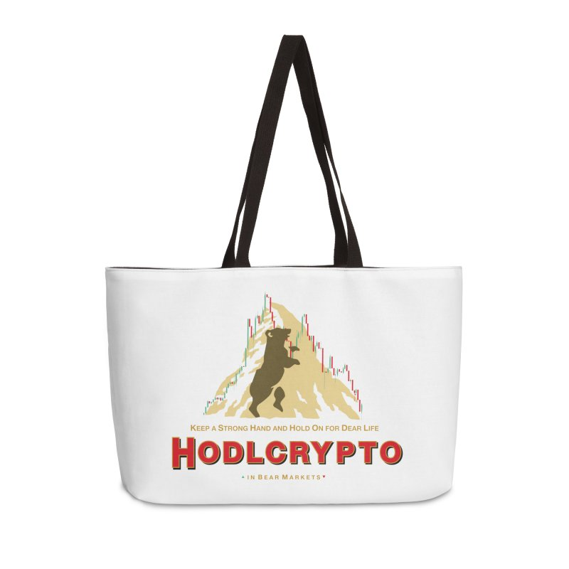 HODL in Bear Markets Accessories Weekender Bag Bag by HODL's Artist Shop
