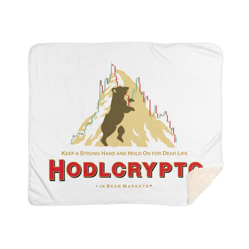 HODL in Bear Markets Home Sherpa Blanket Blanket by HODL's Artist Shop