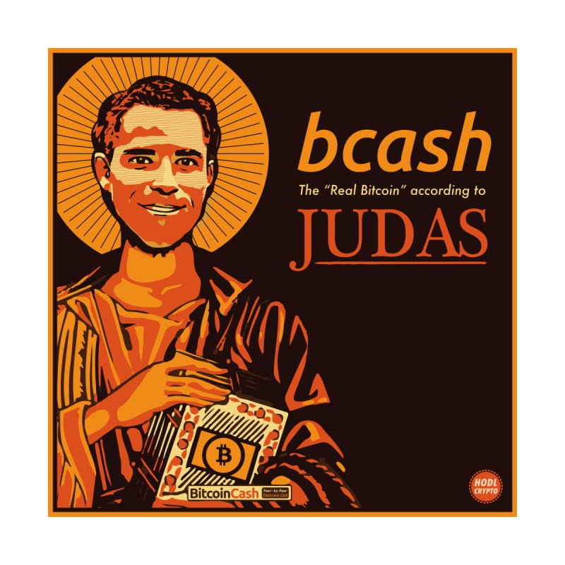 Roger Ver Bitcoin Judas Home Mounted Acrylic Print by HODL's Artist Shop