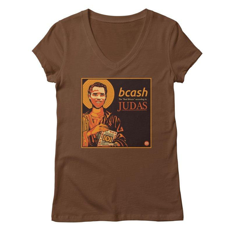 Roger Ver Bitcoin Judas Women's V-Neck by HODL's Artist Shop