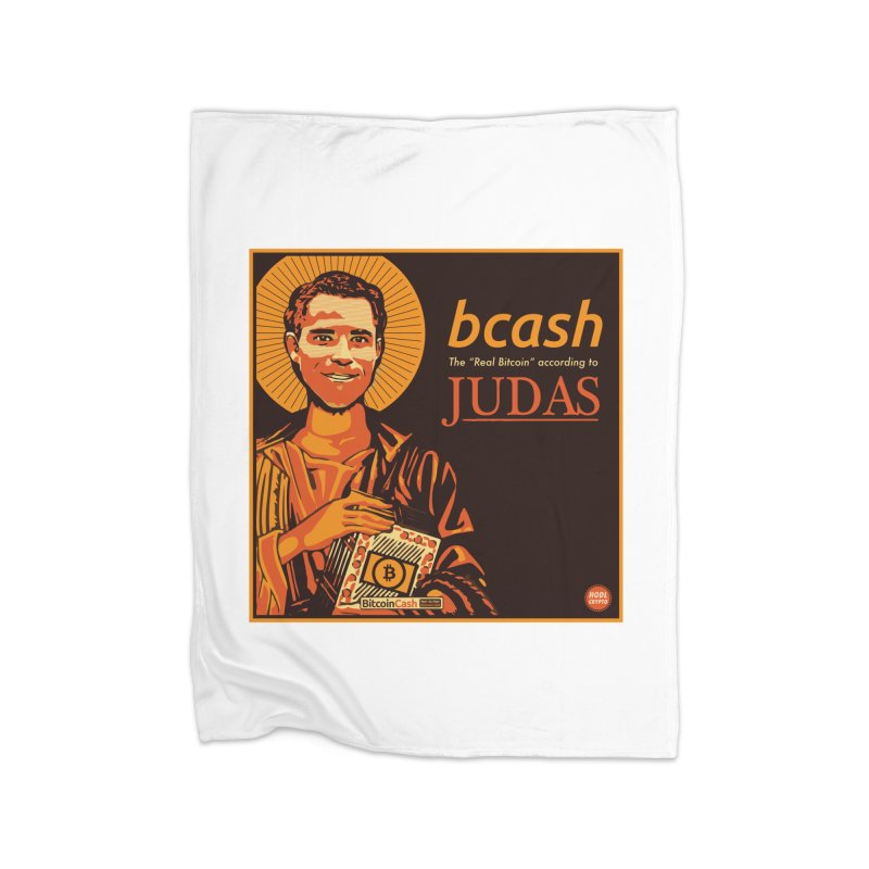 Roger Ver Bitcoin Judas Home Fleece Blanket Blanket by HODL's Artist Shop