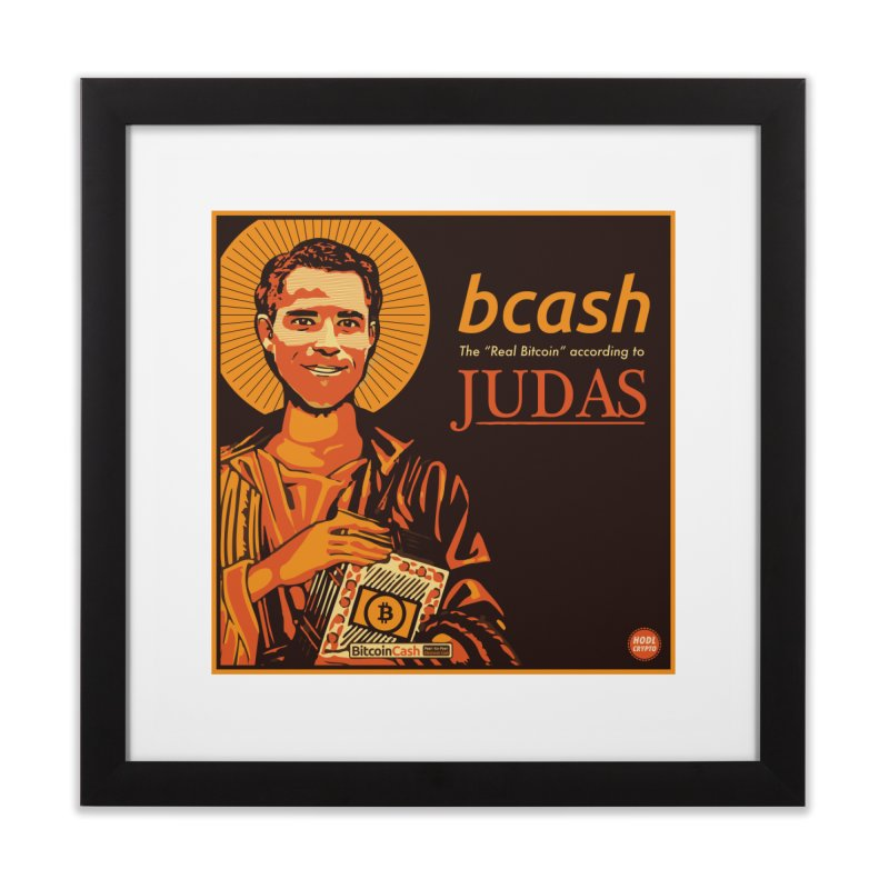 Roger Ver Bitcoin Judas in Framed Fine Art Print Black by HODL's Artist Shop