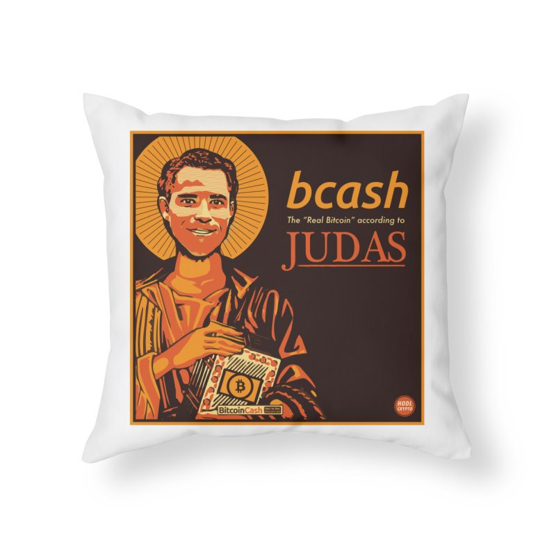 Roger Ver Bitcoin Judas Home Throw Pillow by HODL's Artist Shop