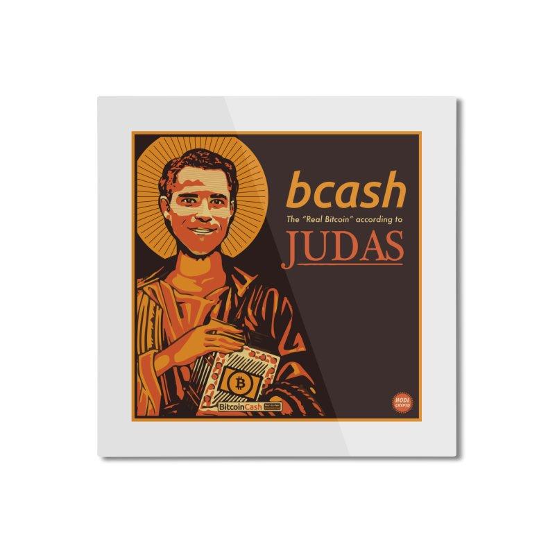 Roger Ver Bitcoin Judas Home Mounted Aluminum Print by HODL's Artist Shop