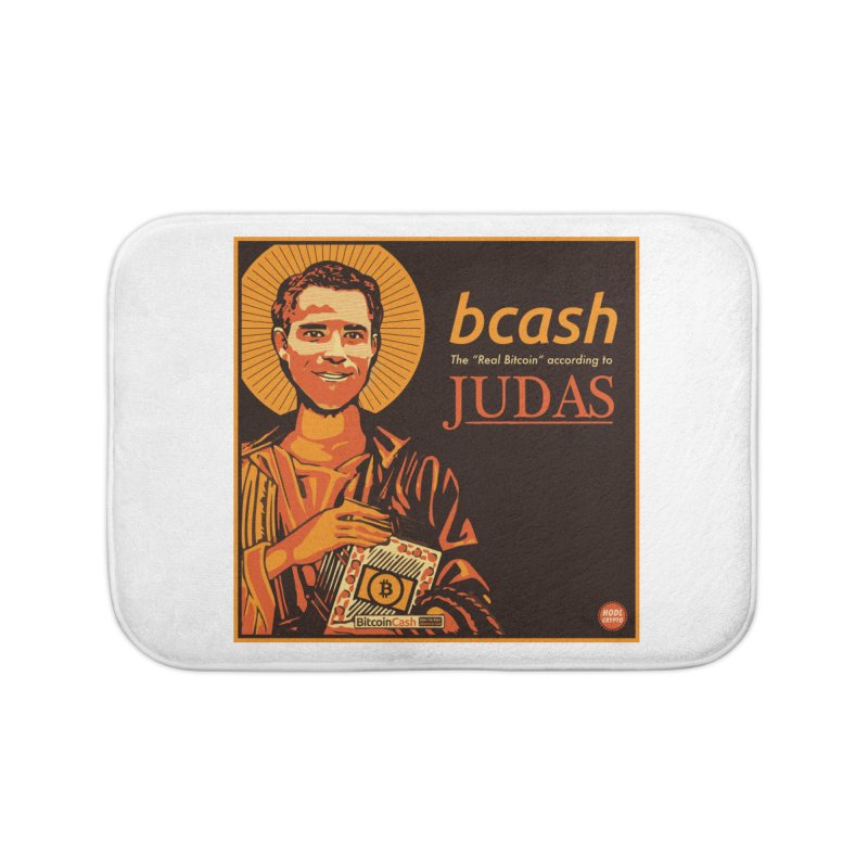 Roger Ver Bitcoin Judas Home Bath Mat by HODL's Artist Shop