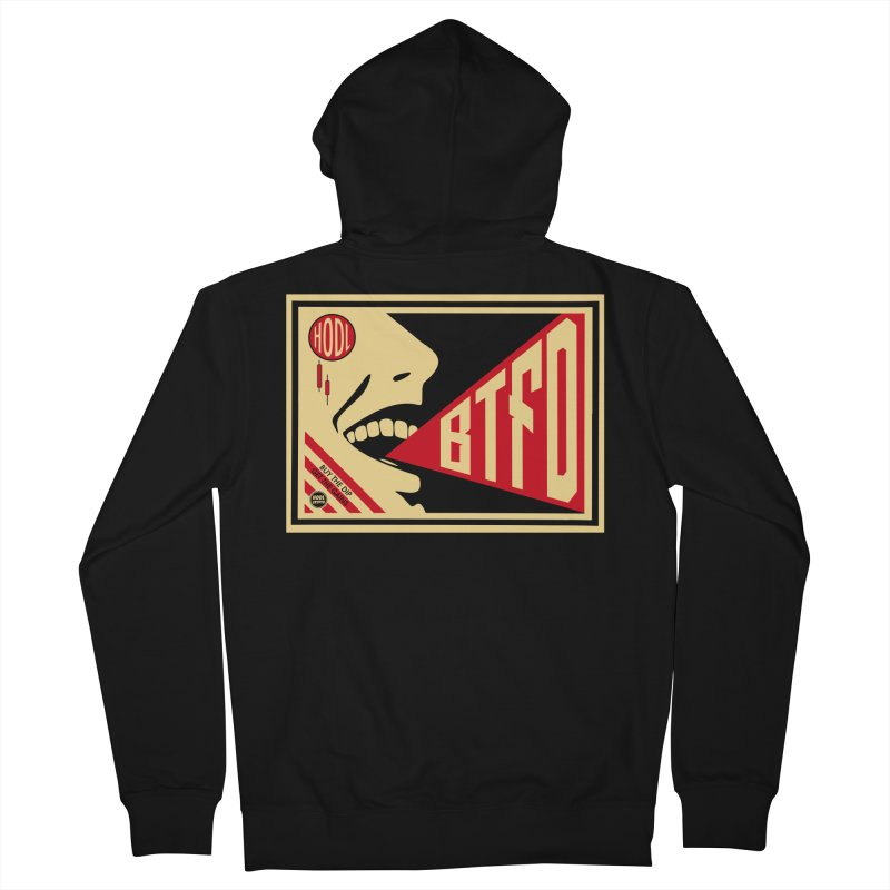 BTFD Men's Zip-Up Hoody by HODL's Artist Shop
