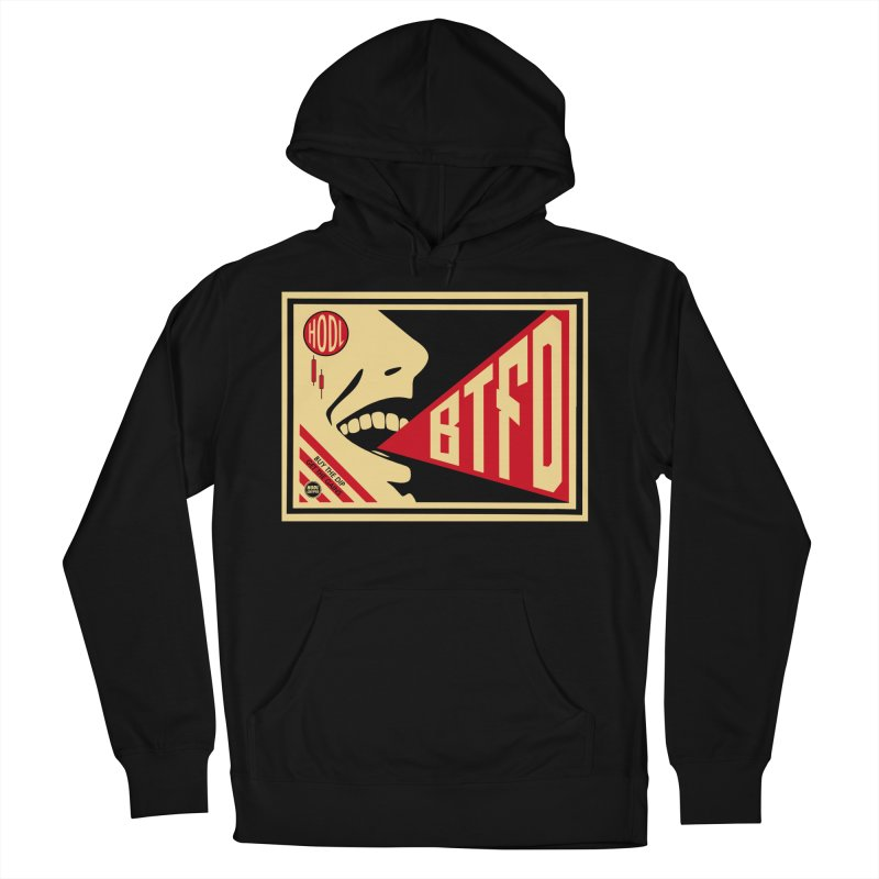BTFD Men's French Terry Pullover Hoody by HODL's Artist Shop