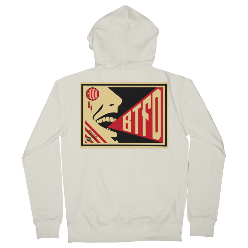 BTFD Men's French Terry Zip-Up Hoody by HODL's Artist Shop