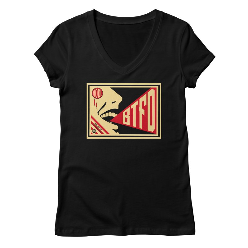 BTFD Women's V-Neck by HODL's Artist Shop