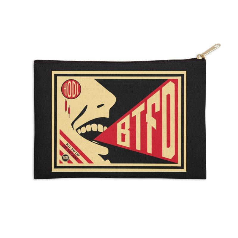 BTFD Accessories Zip Pouch by HODL's Artist Shop