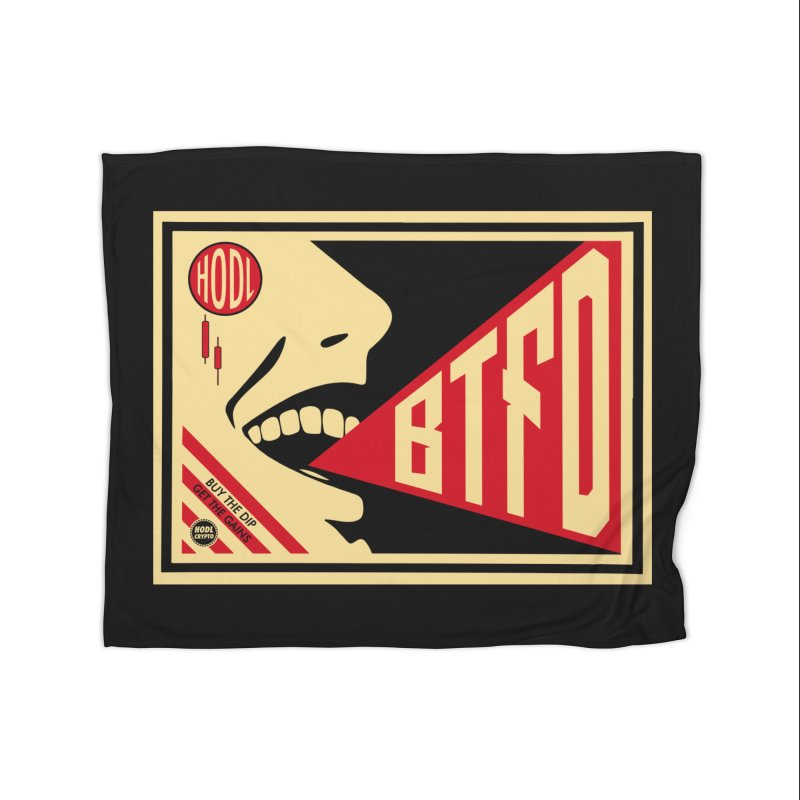 BTFD Home Fleece Blanket Blanket by HODL's Artist Shop