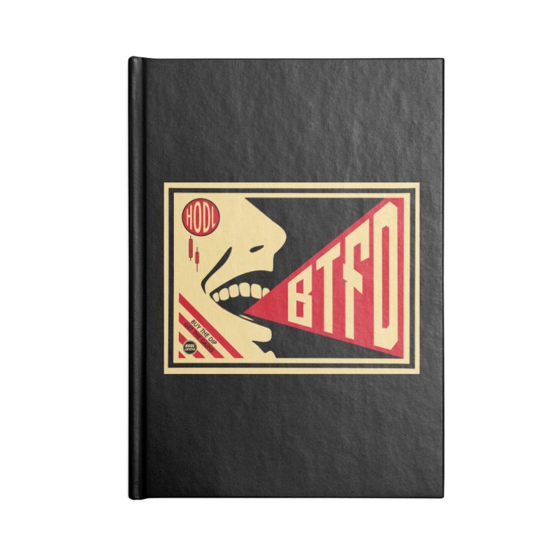 BTFD Accessories Blank Journal Notebook by HODL's Artist Shop