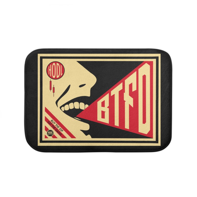 BTFD Home Bath Mat by HODL's Artist Shop