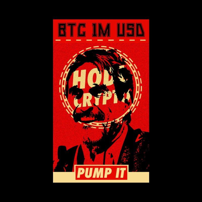 McAfee PUMP IT Men's T-Shirt by HODL's Artist Shop